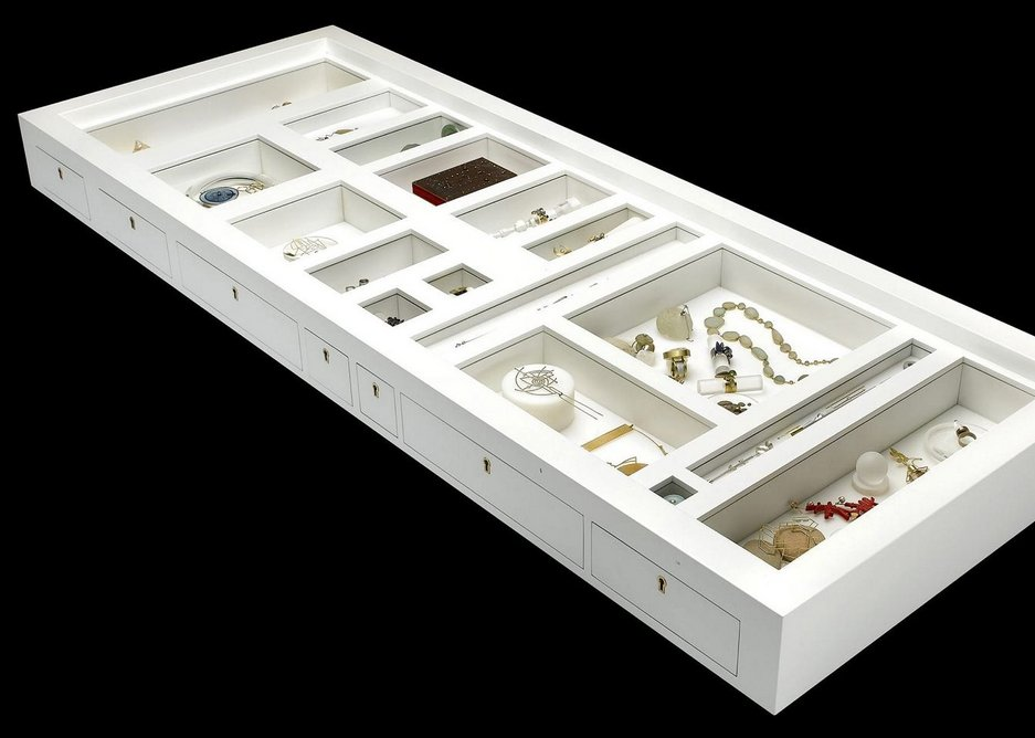 Prospero's Table,  62.5 x 166 x 15 cm Collection: Museum of Fine Arts Houston (Alice Pratt Brown Museum Fund).