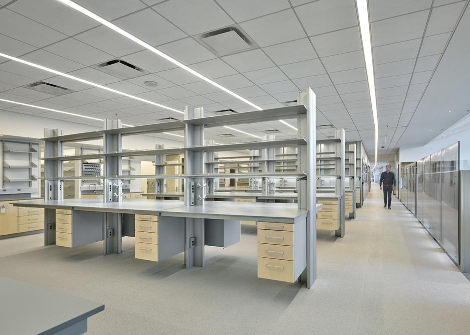 Flexible open lab space.