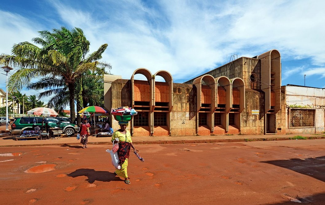 Co-editor Adil Dalbai visited Guinea Bissau. His photograph of a former bank from the 1980s forms part of the introduction to the small West-African country © Adil Dalbai