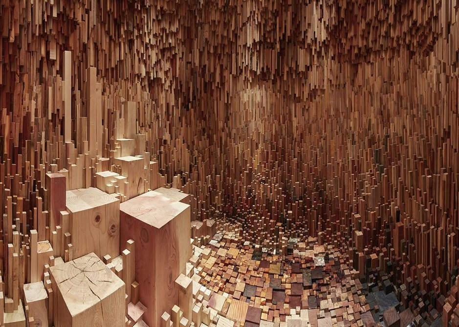 Small project – Hollow, Bristol, by Zeller and Moye with artist Katie Paterson. Meditative space made up of over 10,000 unique tree species.