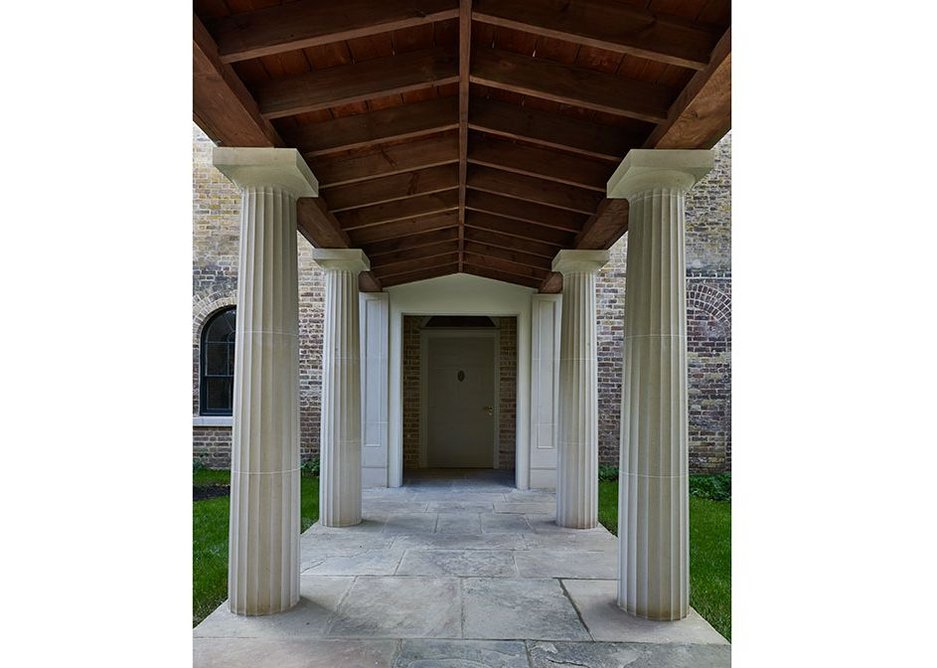 Colonnade. Pitzhanger Manor, Ealing, London (2019) designed by John Soane and reworked by Jestico + Whiles and Julian Harrap Architects. Pitzhanger Manor & Gallery Trust.