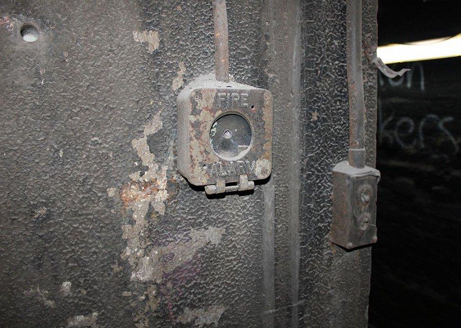 Original electrical fittings at Barnton Quarry Bunker, Edinburgh.