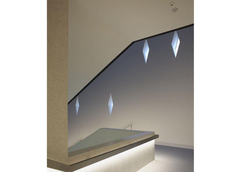 Mysterious quality of internal light via diamond windows.