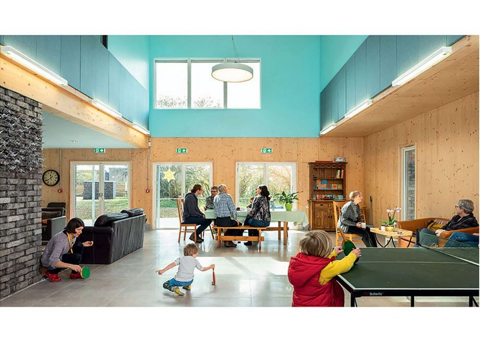 Dedicated communal spaces can make the co-housing experience available to the wider public.
