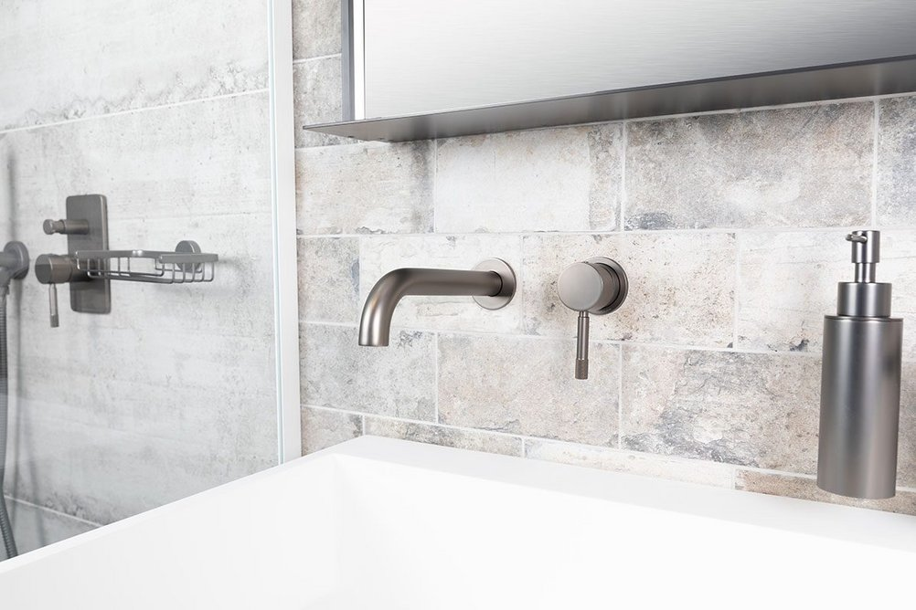 Bagnodesign Revolution concealed basin and shower mixers in Anthracite.