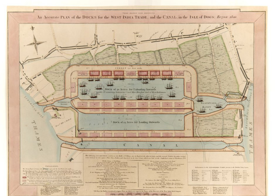 Plan of the proposed West India Docks.