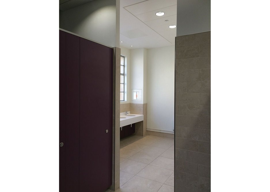 Wilkinson Eyre was keen to reflect Gilbert Scott's original materials in the Weston Library's new washrooms.