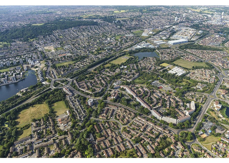 Thamesmead from the sky.