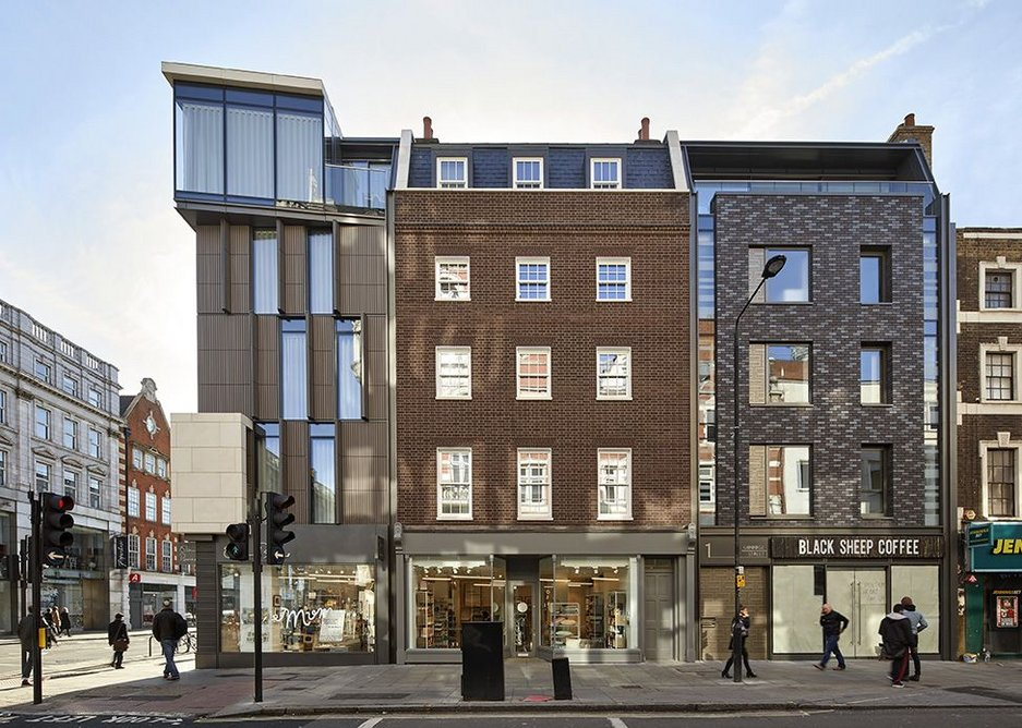 Just completed, three of the five facades of Artisan, designed by Rolfe Judd for Dukelease.
