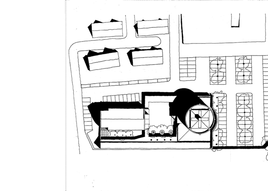 Plan of church.