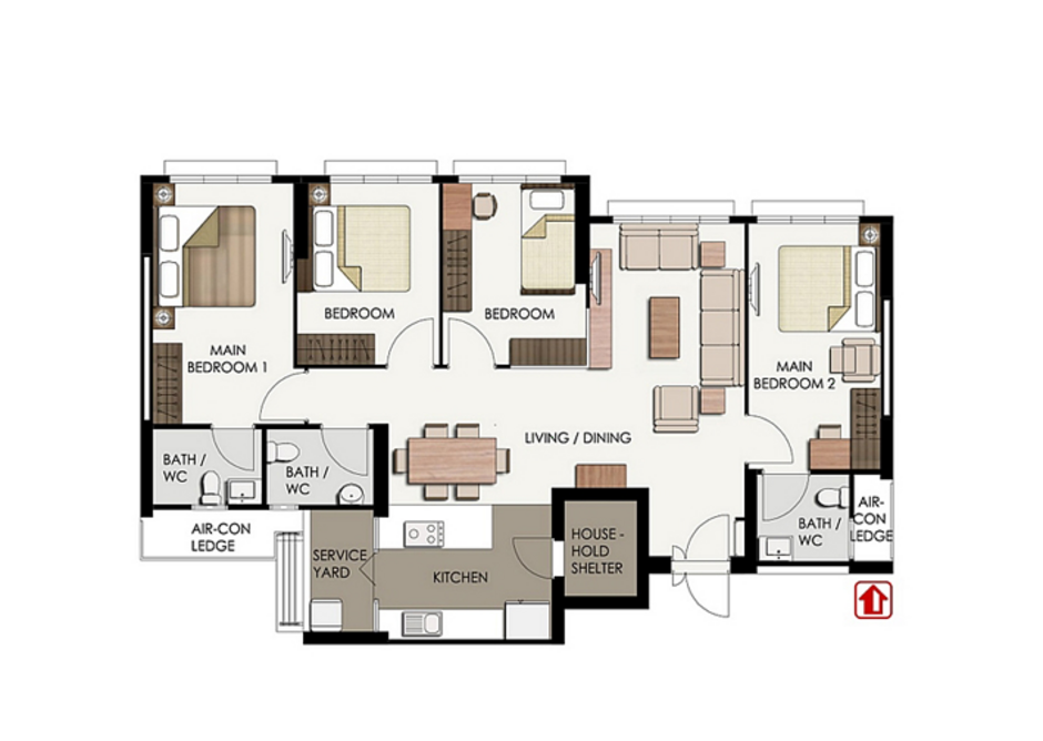 Typical 3Gen flat floor plan.