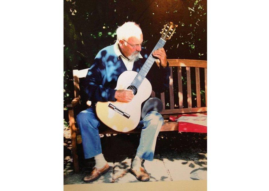 Norman Engleback with guitar.