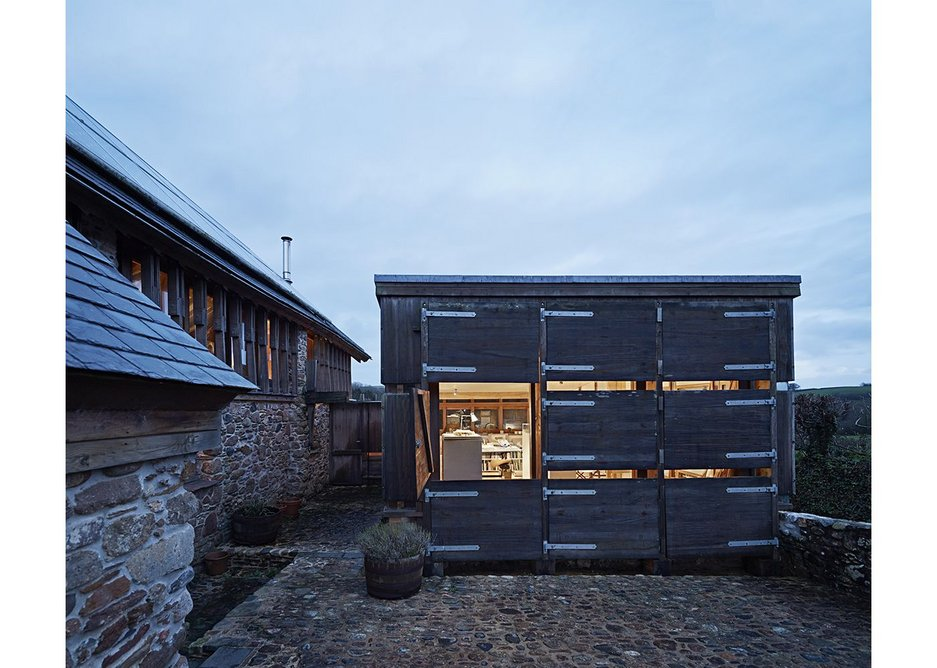 Sheppard's studio can be opened up or closed down depending on weather, privacy and occupation.