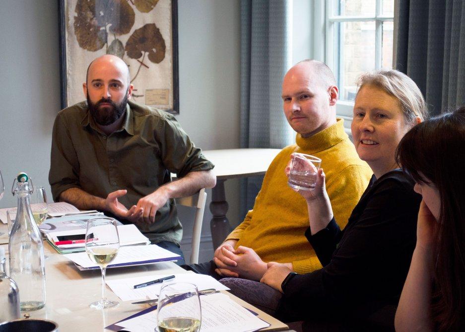 From left: Pattern Design associate director Nick Tyrer, Office S&M partner Hugh McEwen, RIBAJ executive editor Eleanor Young and Haptic Architects associate architect Madeleine Kessler.