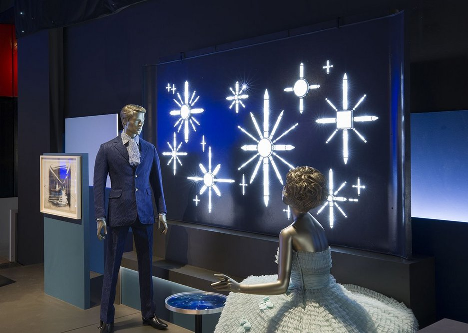 Installation from the V&A exhibition Ocean Liners: Speed and Style, 3 February - 17 June 2018.