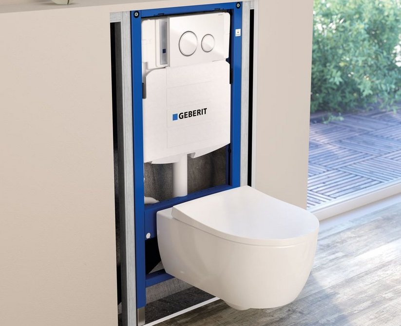 Duofix concealed cistern Sigma21 with iCon WC ceramic.