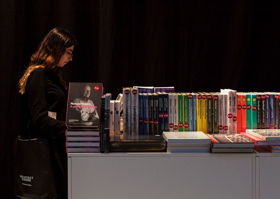 The RIBA Pop-Up Book Shop at Architect@Work 2018 - returning again this year.