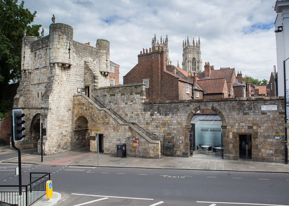 St Leonard's Place shop and toilet, York by Mass Architecture.
