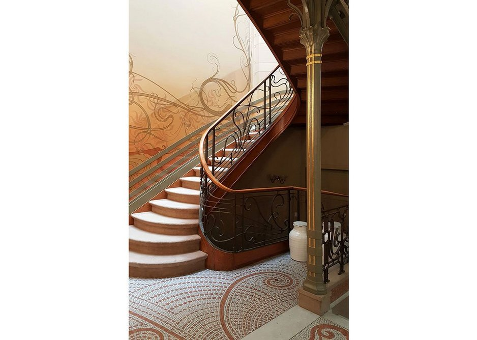 The interior of Hôtel Tassel – credited as being the first art nouveau house. It was designed by Victor Horta in 1892.
