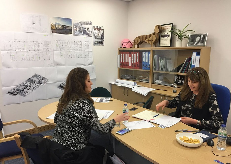 Nathalie Baxter at a working lunch with the City Electrical Factors' client.