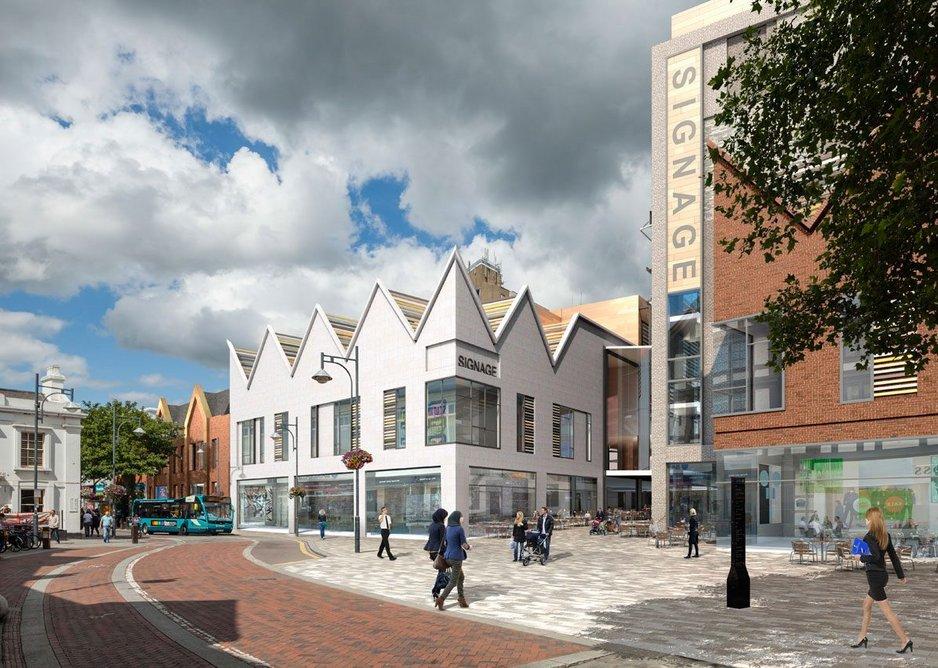 Charter Place visualisation. Credit: Leslie Jones Architects