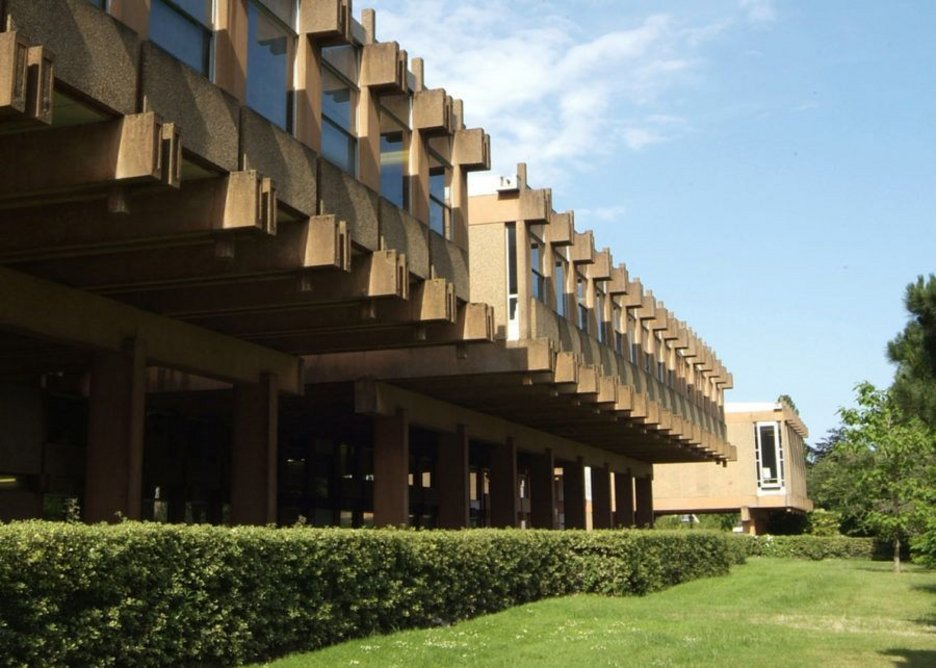 ... but in 2017 Hawkins\Brown will start refurbishing the listed Brutalist URS Building at Reading University below to be its new live-projects architecture school