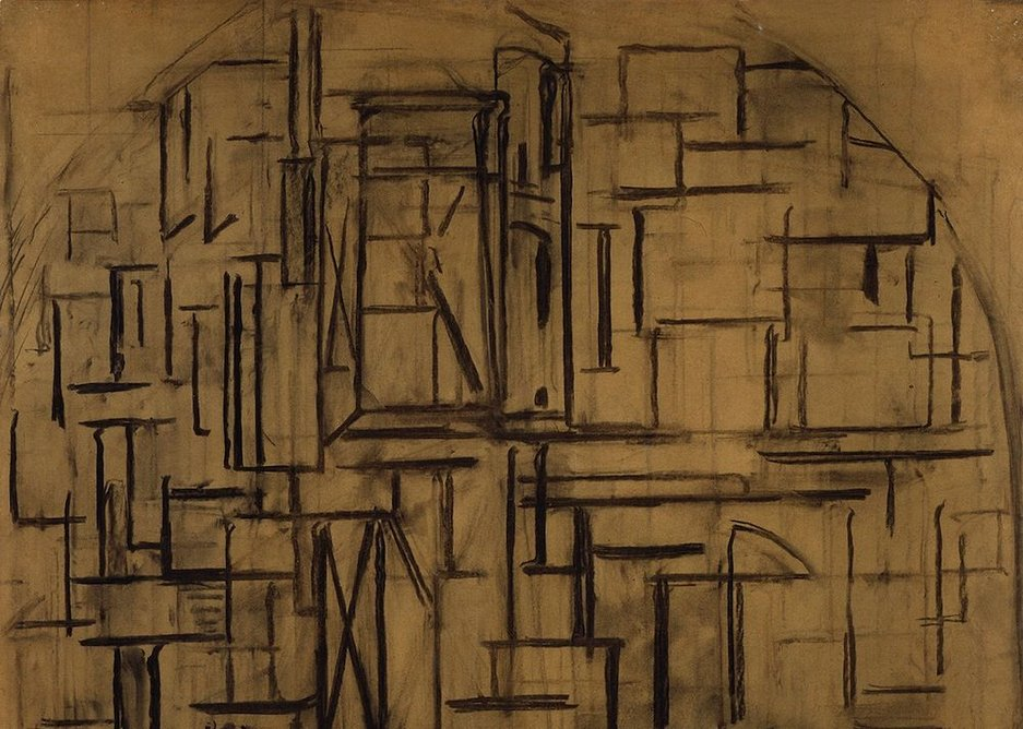 Piet Mondrian – Scaffold Study for Tableau III.