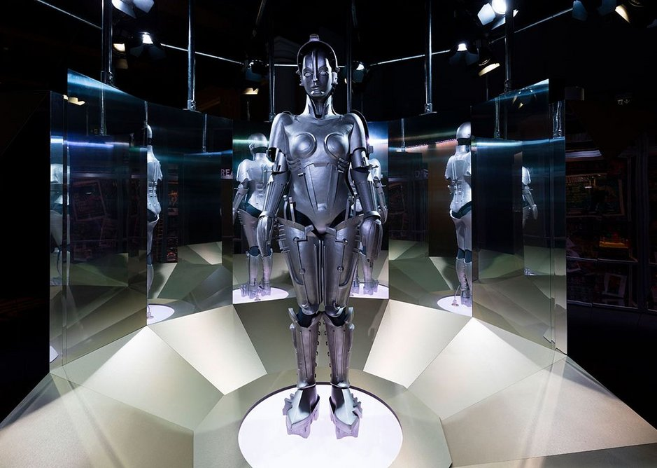Model of Maria in the Dream section of the Robots exhibition.