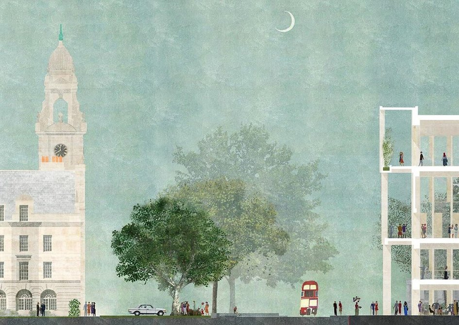 Reducing waste and bringing back green into the street: Town House by Grafton Architects.