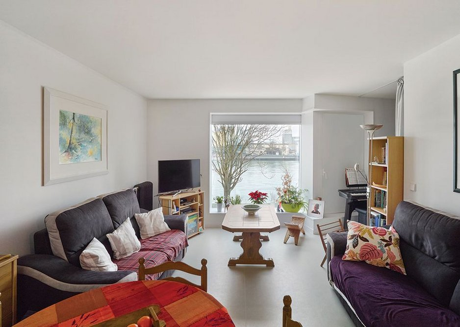 An occupied typical bed-sit overlooking the Rhine.