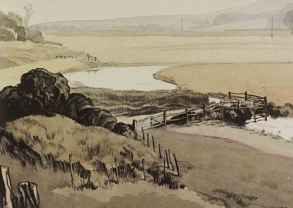 Rowland Hilder,  The Cuckmere at Litlington, Sussex, c.1940. Given by the Pilgrim Trust