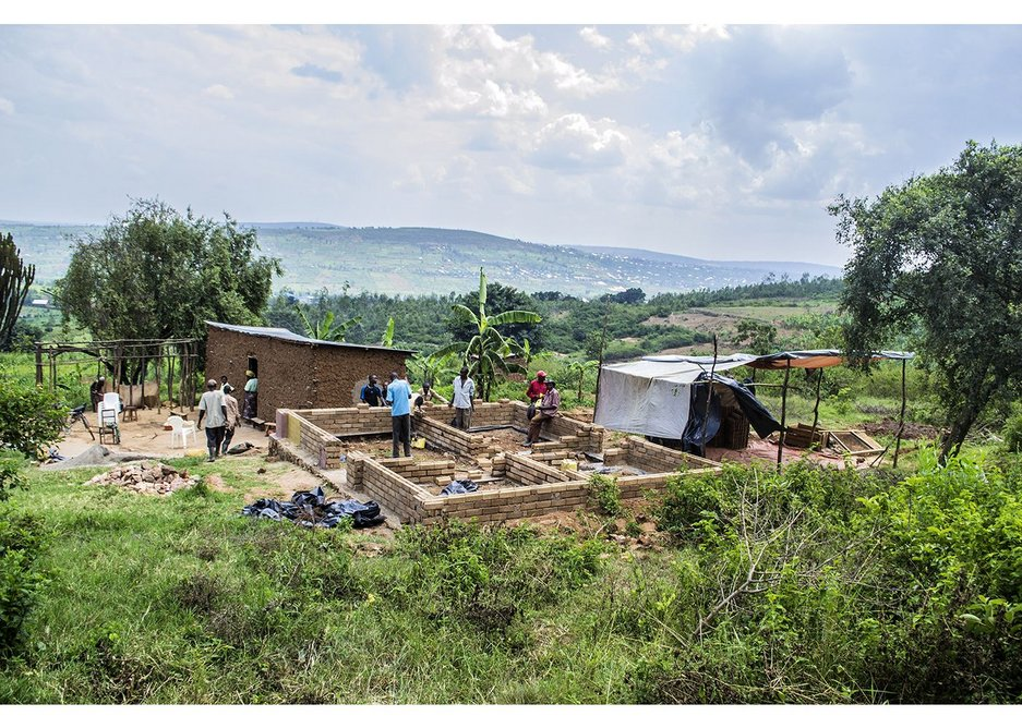 The view across the site down the valley to the nearby town of Nyamata Ntarama, Rwanda, December 2014.