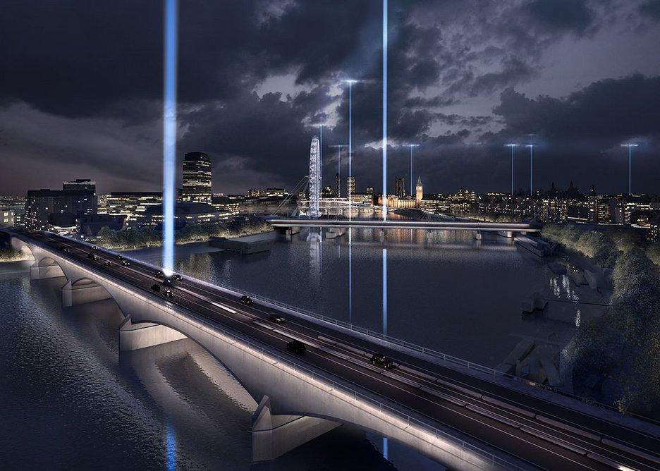 Waterloo Bridge – Saluting the night.