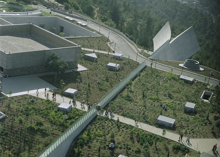 Yad Vashem Museum from above.