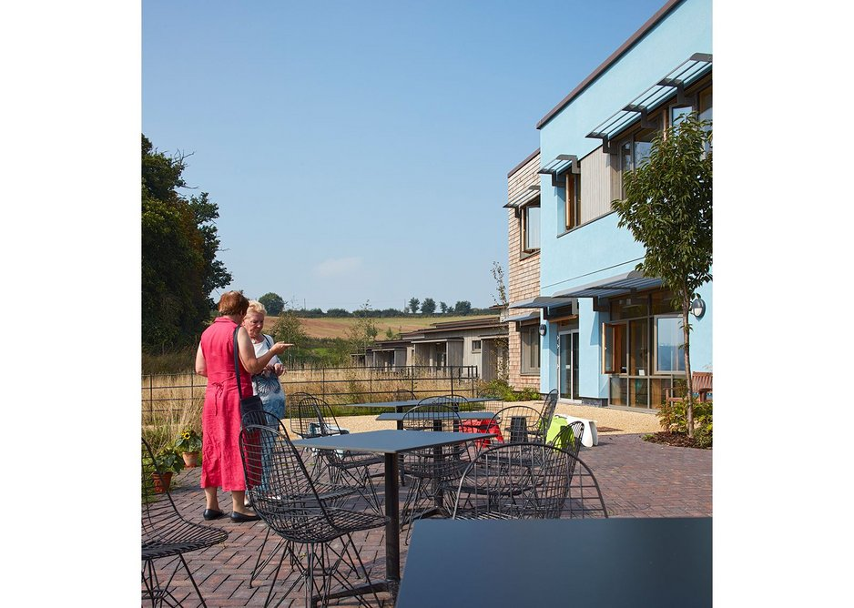 The cafe spills out of the centre of the building and is open to locals as well those visiting the hospice.