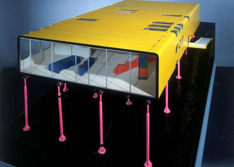 ZipUp House Detail colour presentation competition model, scale 1:20