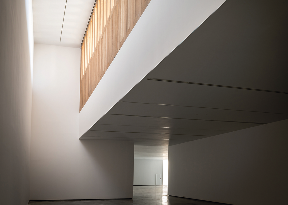 There's spatial generosity, with gallery ceiling heights ranging from 4m-9m.