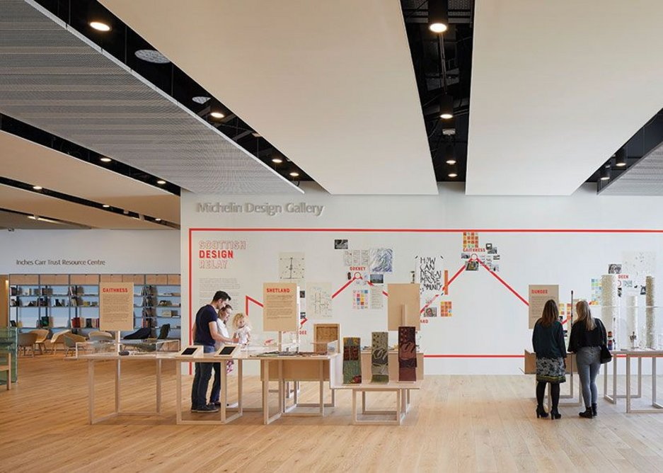 A third informal gallery occupies the top floor circulation space.