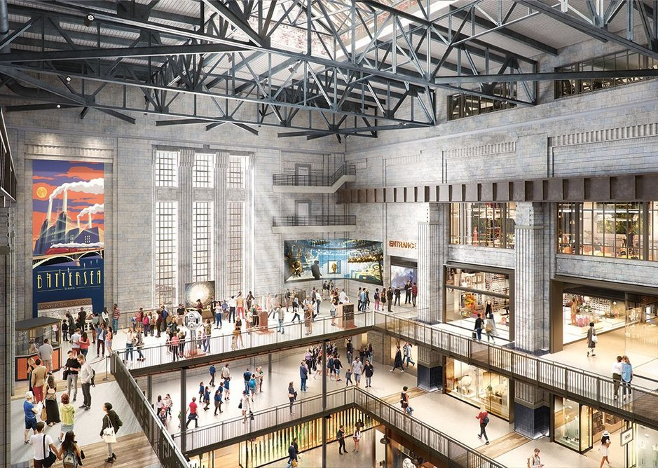 The 1934 turbine hall when it becomes three levels of retail.