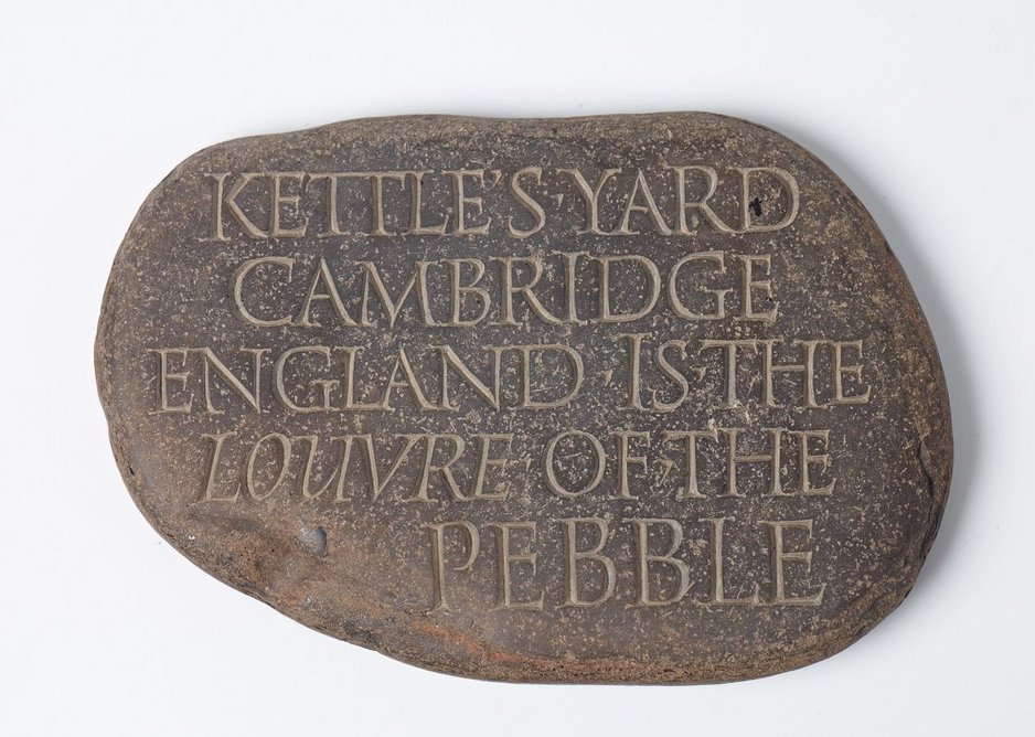 KETTLE'S YARD/CAMBRIDGE/ENGLAND IS THE/LOUVRE OF THE PEBBLE, 1995.