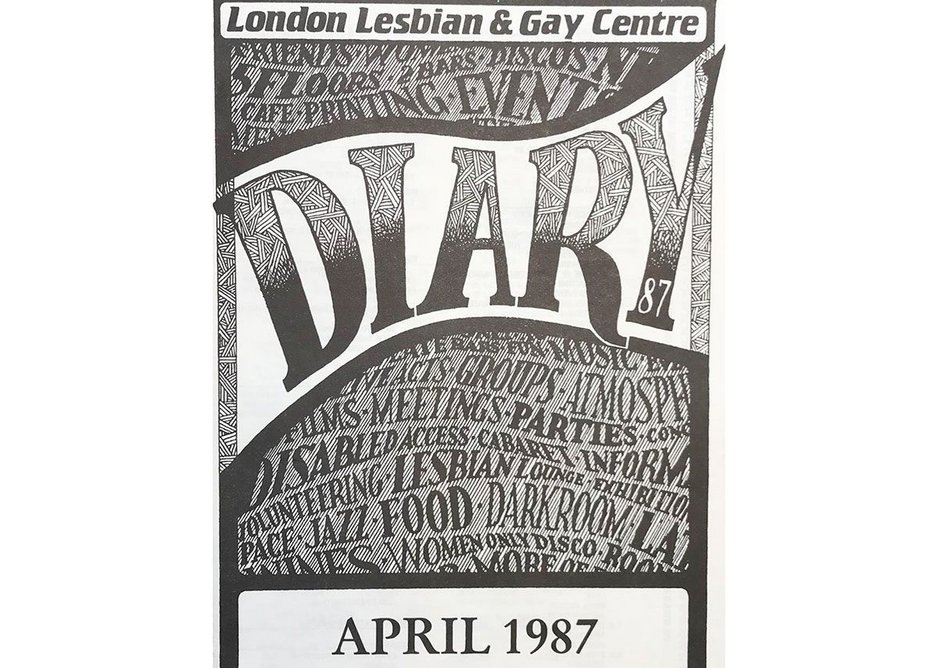 London Lesbian & Gay Centre Flyer, 1987, Courtesy Hall-Carpenter Archives and UCL Urban Laboratory.