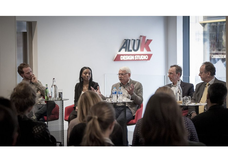 The panellists at May's Social Infrastructure debate at the AluK Studio in Old Street.