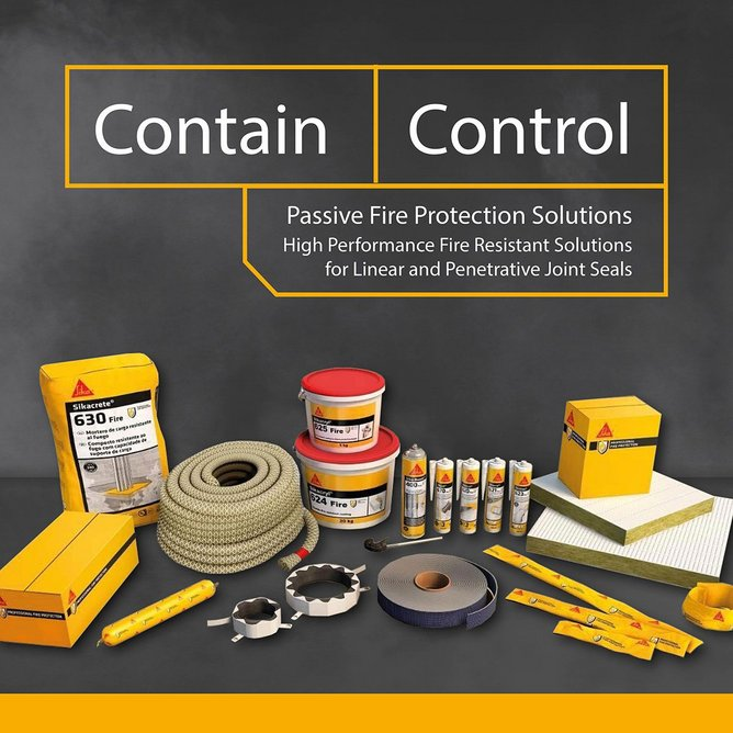 Contain and control: Sika's high performance fire-resistant solutions for high-rise residential and public-use projects.