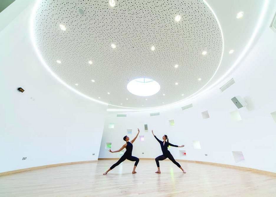 LA Architects produced a characterful circular exercise space, complete with Ronchamp-like windows in the walls.