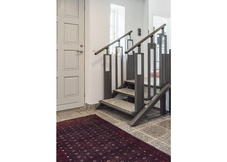 At the Top home the FlexStep has been customised to match the flooring.