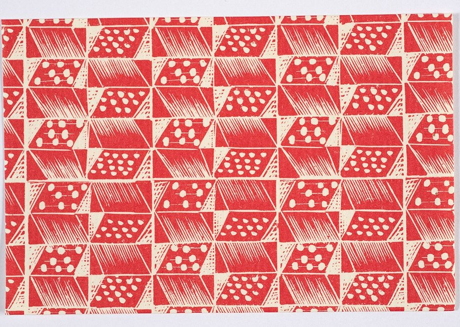 Pattern paper for Judd Street Gallery from wood engraving.