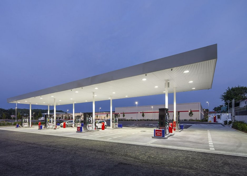 The other Venturi-esque addition: a petrol station at the rear.