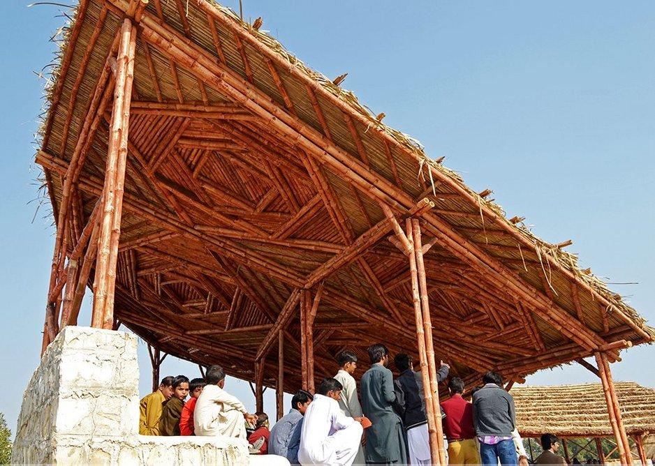 Disaster Risk Reduction training park amphitheatre, Sindh by Yasmeen Lari.