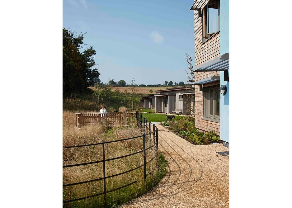 Building and landscape at St Michael's Hospice, Hereford, designed by Architype