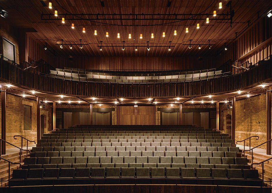 'The most important view in the House'. Stalls and balcony from the stage.